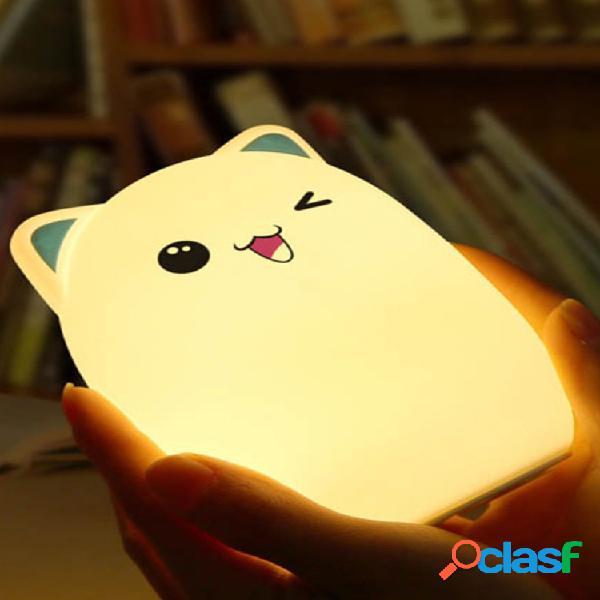 Cute night light adorabile fumetto orso a forma di lampada da tavolo in silicone camera da letto home decor