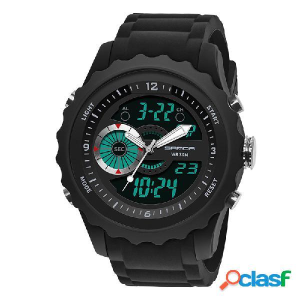Orologio da polso da uomo sportivo con orologio da polso al quarzo digitale impermeabile e sportivo
