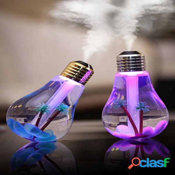 Umidificatore ad ultrasuoni usb home office mini aromaterapia led colorato lampadina a bulbo di notte