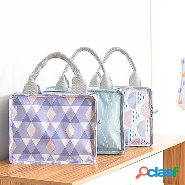 Isolamento con cerniera quadrata borsa impermeabile fresh keep picnic borsa pranzo comodo portatile borsa