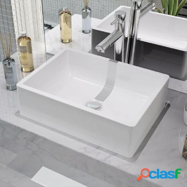 Vidaxl lavandino in ceramica bianca 41x30x12 cm