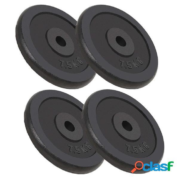 Vidaxl dischi per pesi 4 pz 30 kg in ghisa