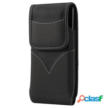 Universal wear-resistant oxford belt clip case - 4.7-5.3 - black