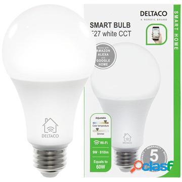 Deltaco sh-le27w wifi smart led bulb - 9w - white