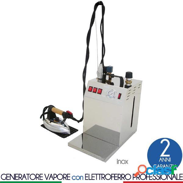 Stirella generatore di vapore con caldaia maxi vapor plus da 5 lt inox dotato di ferro da stiro professionale bieffe pesante