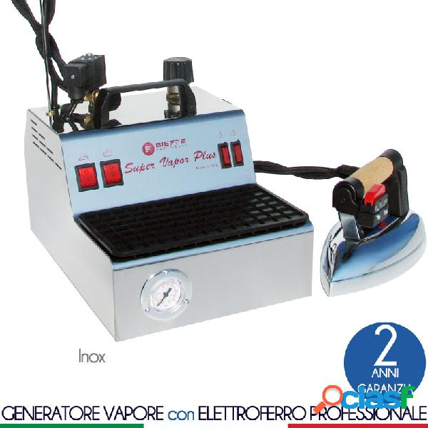 Stirella super vapor plus 2,4 lt dotata di manometro di pressione ed eletrovalvola esterna plus ferro professionale inox