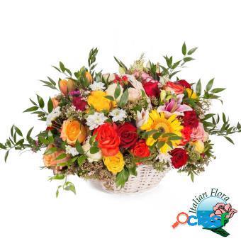 Cesto di fiori autunnali - consegna in italia.