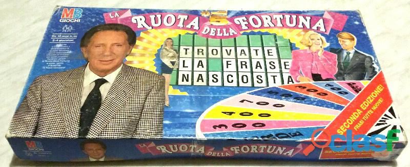La ruota della fortuna GIOCO DI SOCIETA' MB GIOCHI 1992 perfetto