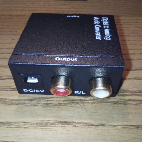 Convertitore adattatore audio ottico toslink digitale