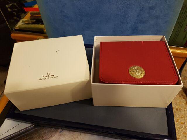Omega scatola in pelle rossa anni '90 x speedmaster