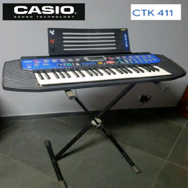 Casio ctk-411 tastiera portatile elettronica midi 100 song