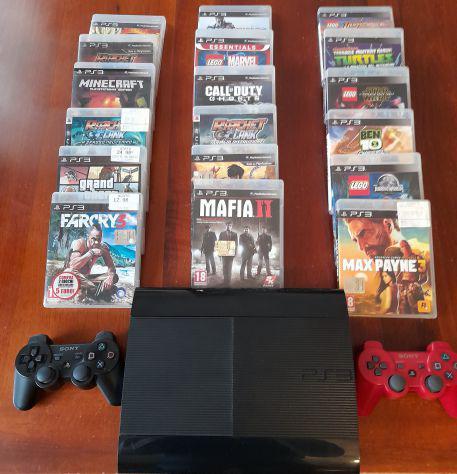 Playstation 3+doppio controller wireless +18 giochi