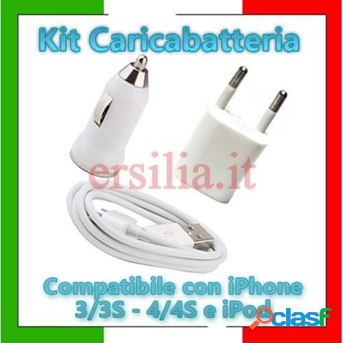Kit carica batteria compatibile iphone 4 /4s /3g /3gs /ipod /ipad