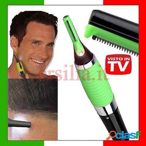 Rasoio micro touch max mini led capelli, peli, naso, baffi, ciglia.