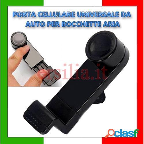 Supporto porta cellulare universale da auto per bocchette aria