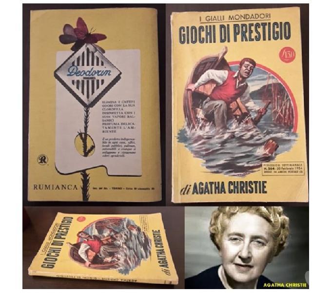 Giochi di prestigio, agatha christie, i gialli mondadori. aosta - collezionismo in vendita