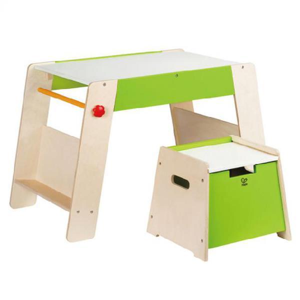 Hape set e1015 tavolino e sgabello bambini station & stool