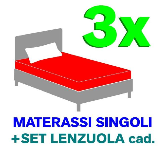 3x letti singoli + set lenzuola in vendita triuggio - vendita mobili usati