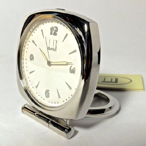 Alfred dunhill, orologio-sveglia da viaggio richiudibile,