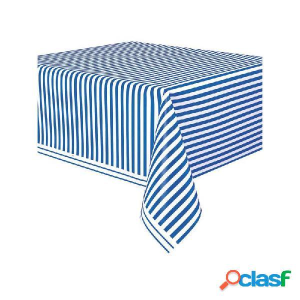 Tovaglia strisce royal blue unique 50301