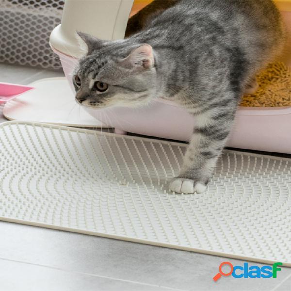 Jordan&judy jj-pe0014 lettiera per gatti silicone materialee tappetino per animali domestici bianco impermeabile