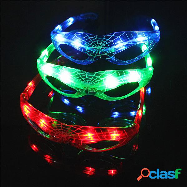 Led spider man style lampeggiante led occhiali luminous party colorful glowing classic toys