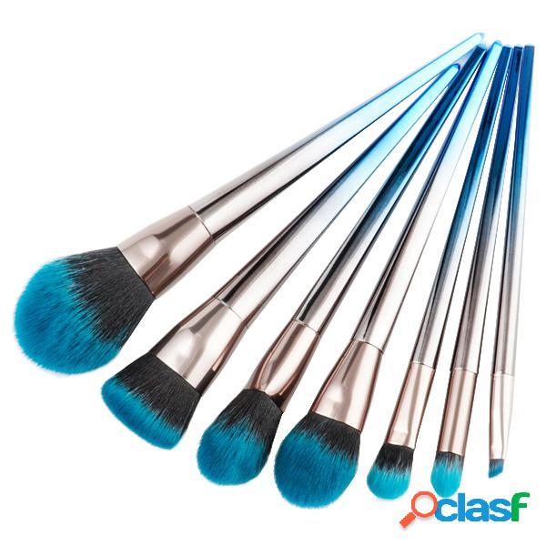 7pcs makeup brushes foundation ombretto eyeliner lip brush kit set cosmetici