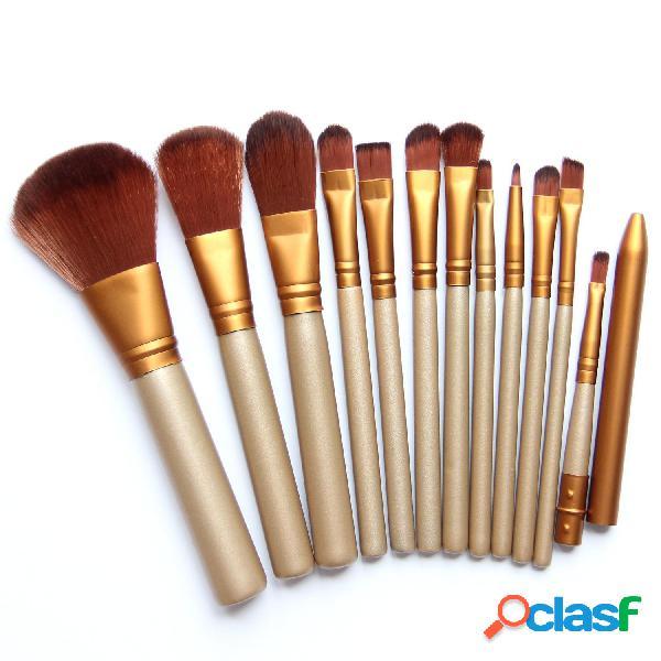 Set di pennelli per trucco in legno set di trucco per capelli in ferro set 7pcs pennello per trucco morbido per capelli