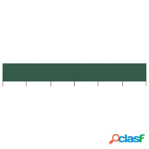 Vidaxl paravento a 6 pannelli in tessuto 800x120 cm verde