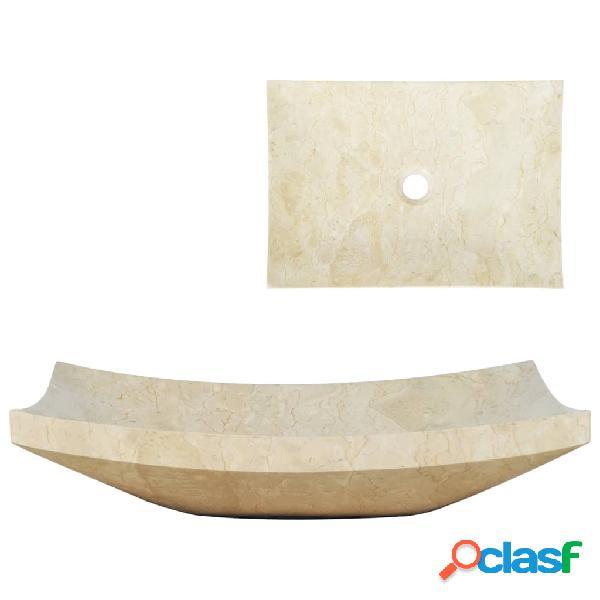 Vidaxl lavandino 50x35x12 cm in marmo crema