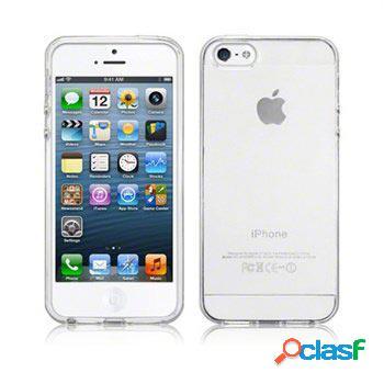 Custodia in silicone per iphone 5 / 5s / se - bianco gelato