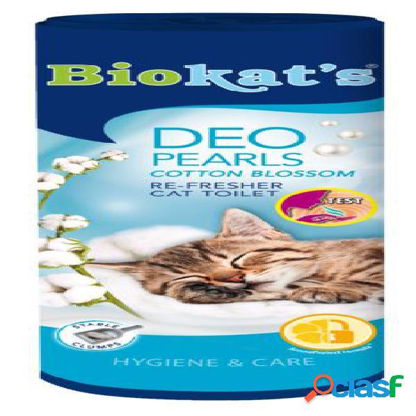 Biokat's deodorante per lettiera gr 700 pearls cotton blossom