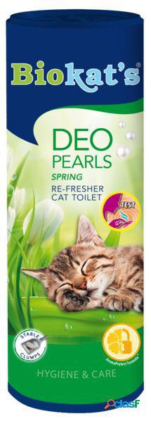 Biokat's deodorante per lettiera pearls spring gr 700