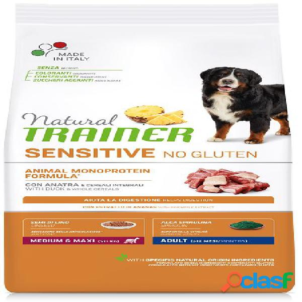 Trainer natural sensitive no gluten adult medio / medium maxi kg 3...