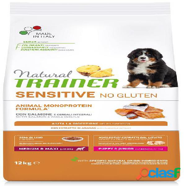Trainer natural sensitive no gluten puppy & junior medio maxi kg 3...