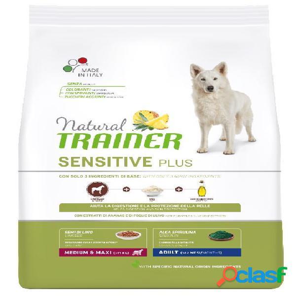 Trainer natural sensitive plus adult medio maxi kg 3 coniglio