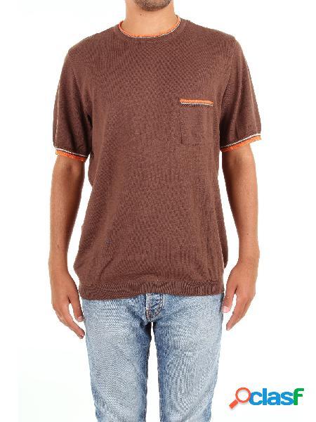 Michael kurrier t-shirt manica corta uomo marrone