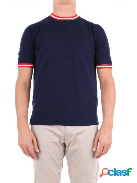 Eleventy t-shirt manica corta uomo blu