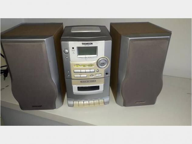 Mini stereo hifi Thomson radio am fm e lettore cd Usato