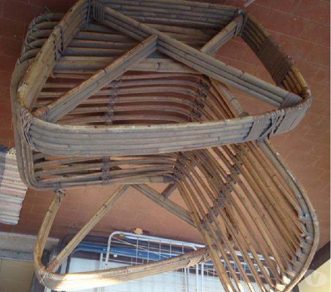 Poltrona bamboo vintage pesante in vendita roma - vendita mobili usati