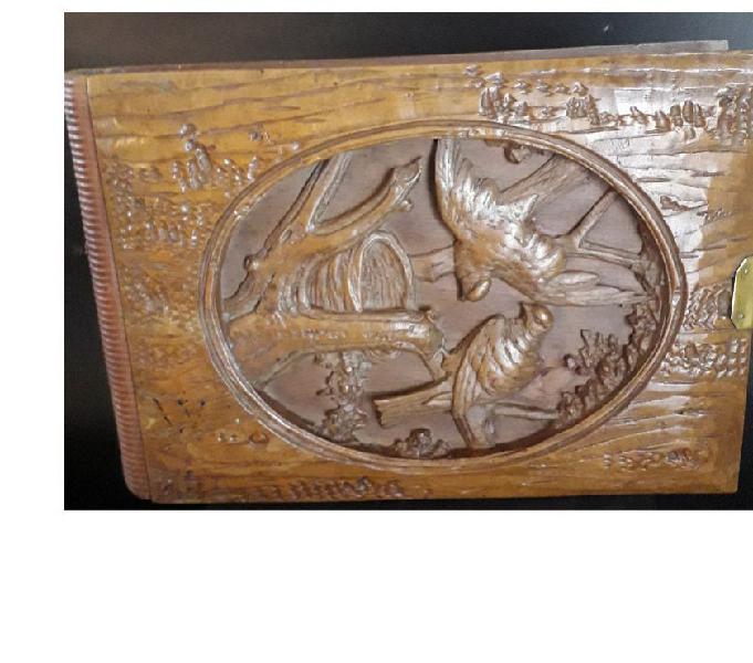 Portafoto antico e particolare primi '900 in legno lodi - collezionismo in vendita