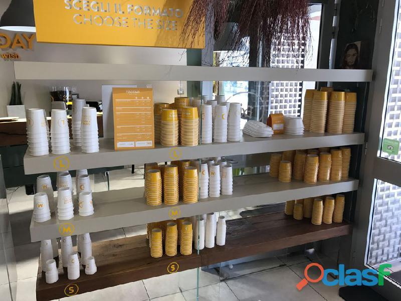Bancone caffè succo self service TopBrewer + TopJuicer Scanomat 3