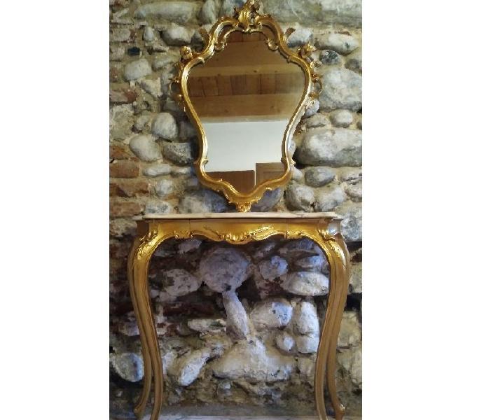Consolle stile veneziano con specchio in vendita collegno - vendita mobili usati