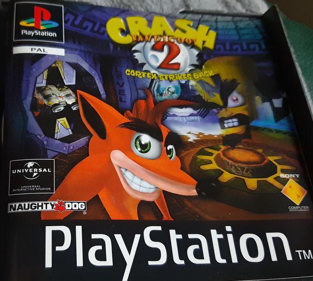 Playstation pal ps1 crash 2 bandicoot platinum
