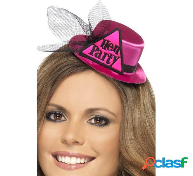 Cappello rosa con festa di addio al nubilato e velo (festa d'addio)