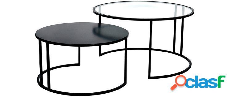 Tavolini bassi di design tahl in vetro e metallo - miliboo 1 stphane plaza