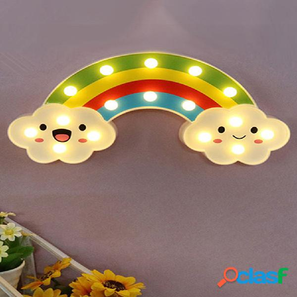 Sorriso face cloud rainbow led night light cartoon night lamp baby lampada da comodino per bambini toy light regalo