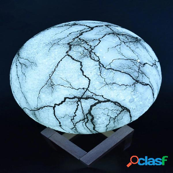 New 3d printing moon lamp led night light decorazioni natalizie telecomando usb ricaricabile regalo