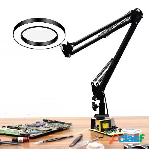 Usb led lente d'ingrandimento a 3 colori con lente d'ingrandimento lampada lente di ingrandimento / rielaborazione / saldatura