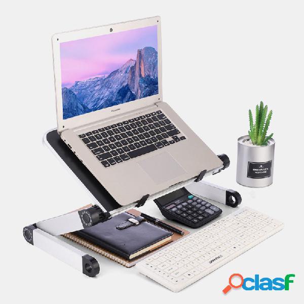 Il supporto per laptop da scrivania regolabile in piedi può essere regolato sollevando il tavolino del supporto piatto di base